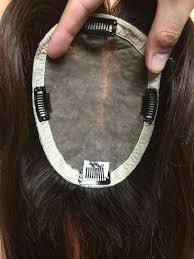human hair wiglets for thinning hair silk top human hair wiglets topper add on fall top piece bangs 16