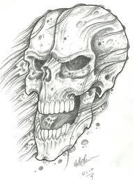 crappy skull sketch by vikingtattoo on deviantart