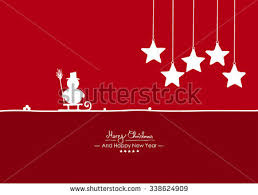 merry christmas simple red vector greeting stock vector 338624909