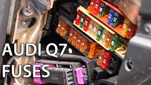 where are electrical fuses located in audi q7 youtube