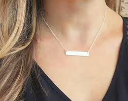 personalized bar necklace gold gold or silver bar necklace personalized name necklace