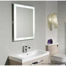 Mirror Wall In Bathroom Led Lighted Mirrors Bathrooms Bathroom Lighting Mirror Wall