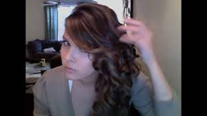 pageant style curling long hair side swept curls for long short hair youtube