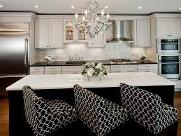 charming transitional white kitchen cabinets with wooden floor