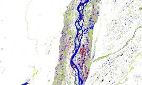 parana river map system shows dramatic changes in surface water past 32 years
