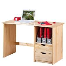 Schreibtisch Kiefer Massiv Schreibtisch Sinus Kiefer Massivholz Natur Lackiert