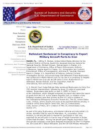 bureau of industry security u s bureau of industry and security doj press release april 9