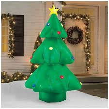 Blow Up Christmas Tree Decoration by 8 U0027 Inflatable Flashing Christmas Tree At Big Lots Christmas