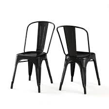 Stackable Dining Room Chairs Amazon Com Set Of 2 Black Xavier Pauchard Tolix A Style Chairs In