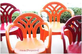 Paint For Outdoor Plastic Furniture by Makeover Idea For Plain White Plastic Chairs Using Spray Paint