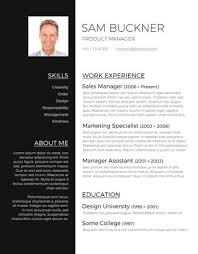 resume with picture template captivating unique resume templates