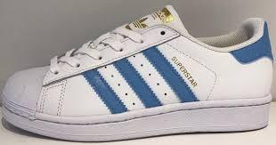adidas superstar light blue adidas superstar foundation junior white light blue s81018 sneaker