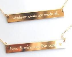 gold engraved necklace engraved necklace etsy