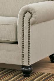 milari linen chair signature design by milari linen transitional sofa with