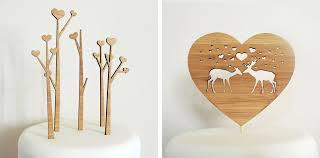 wood cake toppers just in time for wedding season bamboo cake toppers of animals in