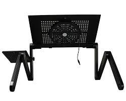 amazon com hzmk portable adjustable aluminum laptop desk for bed