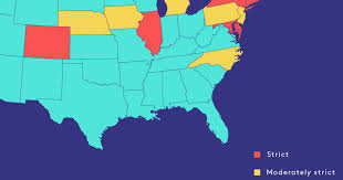 Gun Laws By State Map by State Laws Gun Control Voter Id