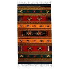 Wool Area Rugs 4x6 Fair Trade Geometric Wool Area Rug 4x6 Tequila Novica