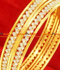 Stone Design by 2 4 Size Bollywood Stylish Imitation Bangle Attractive White Stone