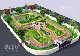 bleu pools and spa u2013 landscape design