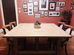 Dining Room Furniture Plans How To Build A Diy Square Farmhouse Table Plans