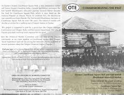 dedication of oregon historical marker