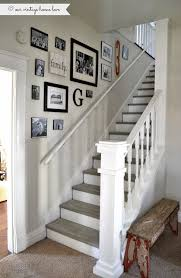 Ideas For Banisters Best 25 Stairway Wall Decorating Ideas On Pinterest Stairwell
