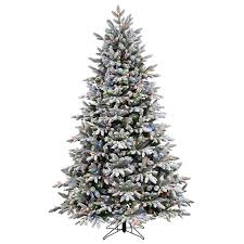 shop ge 7 5 ft pre lit alaskan pine flocked artificial