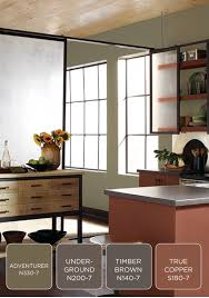 give your kitchen a modern and earthy update with behr paint in
