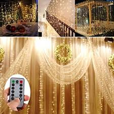 wedding backdrop with lights battery operated 300 led curtain string lights w remote timer