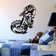 bicycle wall decal promotion shop for promotional bicycle wall bmx bike wall decal bicycle sports vinyl wall art stickers for kids rooms boys bedroom home decal decor wall poster murals a431