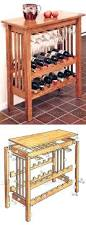 Small Oak Console Table Wine Rack Default Name Tabletop Wooden Wine Racks Diy Console