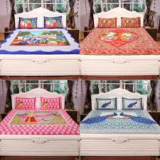 jaipuri double bedsheets with 3d prints by incredible homes bed