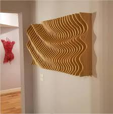 wood wall modern parametric wave 3d wall