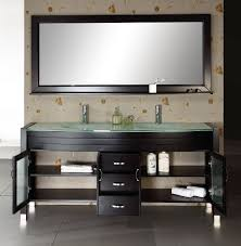 Small Bathroom Double Sinks Abersoch 63 Inch Contemporary Double Sink Vanity Glass Countertop