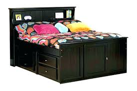 twin bed with bookcase headboard and storage full size storage bed with bookcase headboard solomailers info
