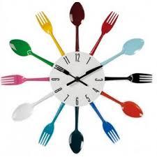 horloges cuisine horloge de cuisine originale avec fourchettes et cuillère cadeau
