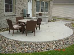 Concrete Ideas For Backyard Love The Stone Surrounding The Concrete Patio Gardening And
