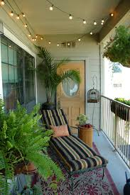 balcony decor ideas love the lights take it outside