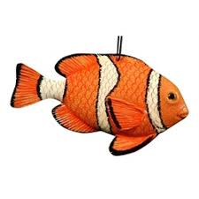 tropical reef nemo hanging 3d clown fish tiki christmas holiday