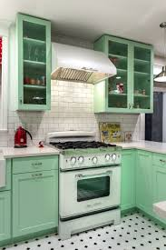 green kitchen tile backsplash pastel green kitchen ideas wall mounted cabinets rustic range