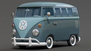 volkswagen old van drawing 3d cartoon styled vintage vw bus on behance