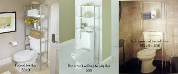 Over The Toilet Bathroom Storage over the toilet etagere renters in love