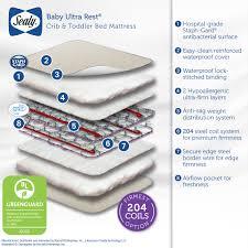 Serta Perfect Dream Crib And Toddler Bed Mattress by Delta Canton 4 In 1 Convertible Crib And Bonus Mattress Bundle