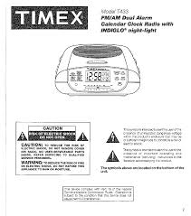 timex clock radio t433 user guide manualsonline com