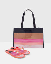 flip flop bag ted baker london marina mosaic shopper bag and flip flop set