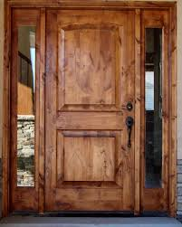 Exterior Solid Wood Doors by Tuscany Design Knotty Alder Front Entry Solid Wood Door With 2