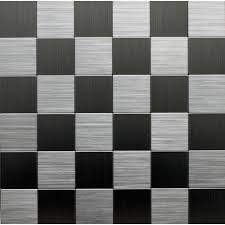 tile pictures instant mosaic 12 in x 12 in metal backsplash tile in stainless