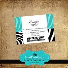 Sweet 16 Invitation Cards Zebra Print Aqua Star Theme Sweet 16 Invitation