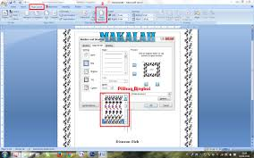 membuat novel di ms word cara membuat cover makalah di microsoft office word 2007 belajar